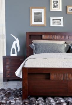 Mahoniowe łóżko Z Kolekcji Malaga Domatornia Wnętrza